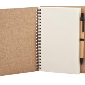 Ежедневник крафт с ручкой
