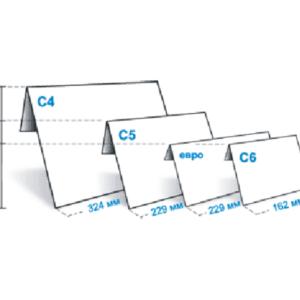 Стандартные размеры конвертов